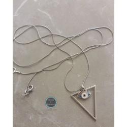 μακρύ κολιέ με αλυσίδα και μεταλλικά στοιχεία (κωδ:0225)