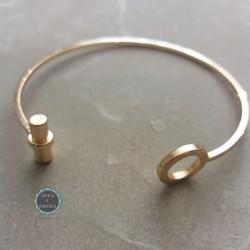 minimal χρυσό bangle για το χέρι (κωδ:0174)