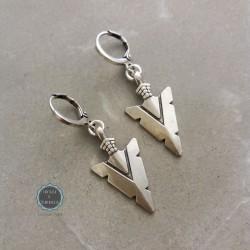 σκουλαρίκια ασημί κρικάκια με βέλη (κωδ:0236)