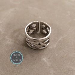 δαχτυλίδι φαρδύ διάτρητο (κωδ:024)