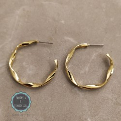 gold hoop earrings (κωδ:0267)
