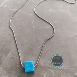 λεπτή αλυσίδα φίδι με κεραμική πέτρα (κωδ:0257)