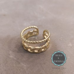 δαχτυλίδι διπλό χρυσό (κωδ:031)
