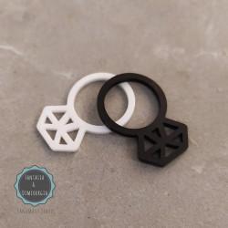plexiglass δαχτυλίδι (κωδ:0017)