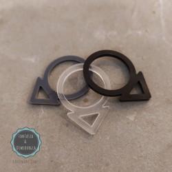 plexiglass δαχτυλίδι (κωδ:0018)