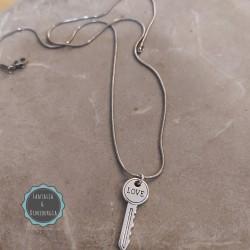 ατσάλινη αλυσίδα με κλειδί (κωδ:071)