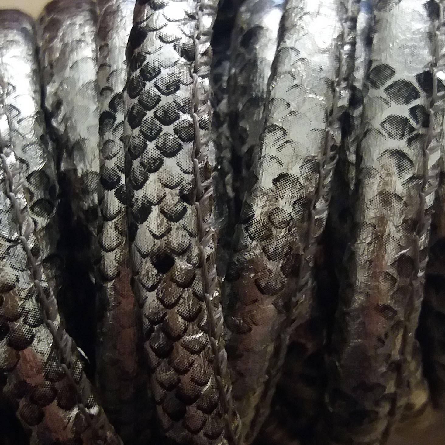 snake print silver